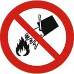 Schild Verbotszeichen nach ISO 7010 - mit Wasser löschen verboten - 320490 rund Gr. ca. 20cm