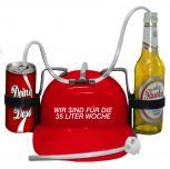 Trinkhelm Spaßhelm mit Printmotiv - Wir sind für die 35 Liter Woche - 51610 - versch. Farben zur Wahl