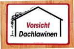 Warnschild - Vorsicht Dachlawinen - 308676 - 25cm x 40cm - Winter Schnee