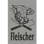 Hosenträger mit Print Zunftzeichen - Fleischer - 06747 grau - Handwerk