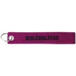 Filz-Schlüsselanhänger mit Stick SCHLÜSSELHUND Gr. ca. 17x3cm 14165 pink