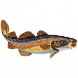 Aufnäher - Fisch Aal - 04539 - Gr. ca. 10,5cm x 3,5cm