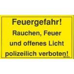 Warnschild - FEUERGEFAHR - Gr. ca. 25 x 15 cm - 308418