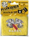 Schweißband Pulswärmer - BADEN Wappen - 56550 gelb