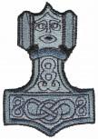 Aufnäher - Wikinger Thorhammer - 04748 - Gr. ca. 7 x 10 cm - Patches Stick Applikation