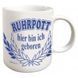Tasse mit Print Heimat Region Ruhrpott weiß 57388