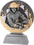 Pokal aus Kunstharz mit Feuerwehr - Gr. ca. 15,5 x 20 cm - 70052