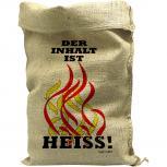 Jutesack mit Aufdruck - Feuerwehr - Der Inhalt ist Heiss - 70515 Gr. ca. 56cm x 136cm