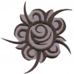 Aufnäher - Wikinger Symbol - 03183 - Gr. ca.  6 x 6 cm - Patches Stick Applikation
