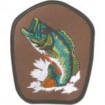 Aufnäher - Fisch Karpfen Hecht - 04665 - Gr. ca. 8x9,5cm