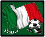 Mousepad Mauspad mit Motiv - Italien Fahne Fußball Fußballschuhe - 83070 - Gr. ca. 24  x 20 cm
