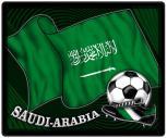 Mousepad Mauspad mit Motiv - Saudi-Arabien Fahne Fußball Fußballschuhe - 83143 - Gr. ca. 24  x 20 cm