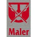 Hosenträger mit Print Zunftzeichen - Maler - 06751 rot