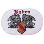 Aufnäher Applikation edles Stick-Emblem Patch Motive - 04621 - Gr. ca. 4 x 8 cm