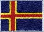 AUFNÄHER - ALAND ISLAND (FINLAND) - Gr. ca. 8cm x 5cm (21564) Stick Applikation Patches - Länderflagge Fahne Nation