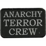 AUFNÄHER - Anarchy Terror Crew - 01952 - Gr. ca. 8,5 x 5,5 cm - Patches Stick Applikation