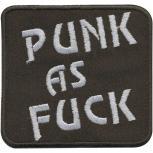 AUFNÄHER - Anarchie - Punk as fuck - 04824 - Gr. ca. 7 x 7 cm - Patches Stick Applikation