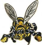 AUFNÄHER - Biene Hummel Wespe - 00767 - Gr. ca. 6 cm x 6cm - Patches Stick Applikation Bügel-Emblem