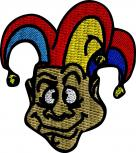 AUFNÄHER - CLOWN - NEU - 04743 - Gr. ca. 5 cm x 6 cm - Patches Stick Applikation Bügel-Emblem