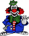 AUFNÄHER - CLOWN - 04744 - Gr. ca. 5 cm x 6 cm - Patches Stick Applikation Bügel-Emblem
