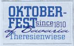 Aufnäher - Oktoberfest since 1810 - 00792 Gr. ca. 10cm x 7cm