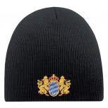 Beanie Mütze BAYERN WAPPEN 54810 schwarz