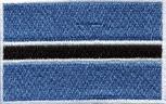 Aufnäher - Botswana Fahne - 21579 - Gr. ca. 8 x 5 cm