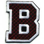 Aufnäher Patches - Buchstabe B - Gr. ca. 6cm x 4cm - 21732 schwarz-weiß