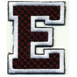 Aufnäher Patches - Buchstabe E - Gr. ca. 6cm x 4cm - 21735 schwarz-weiß