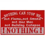 Aufnäher - Nothing can Stop me - 00411 - Gr. ca. 9 x 6 cm - Patches Stick Applikation