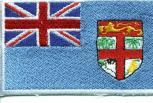 "AUFNÄHER ""FIDSCHI-INSELN"" NEU Gr. ca. 8cm x 5cm (21593) Stick Patches Applikation - Länderflagge Fahne Nation"