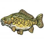 Aufnäher - Fisch - 02102 - Gr. ca. 2 x 5 cm - Patches Stick Applikation