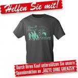 T-Shirt Unisex mit Print - Flüchtling kann jeder werden... - 10534 dunkelgrau - Gr. S-XXL