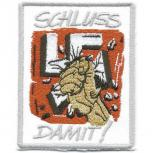 AUFNÄHER - Nazis - Schluss damit - 06113 - Gr. ca. 7 x 5 cm - Patches Stick Applikation