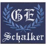 AUFNÄHER - GE - Schalker - 03214 - Gr. ca. 8 x 8 cm - Patches Stick Applikation
