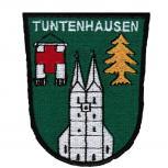 AUFNÄHER - Wappen - Tuntenhausen - 02919 - Gr. ca. 7,5 x 9 cm - Patches Stick Applikation