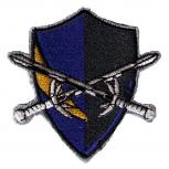AUFNÄHER - Wappen - Ritterschild - 02943 - Gr. ca. 6 x 6,5 cm - Patches Stick Applikation