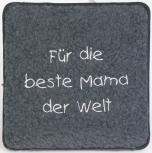 Schurwoll-Sitzkissen - für die beste Mama der Welt - 30007