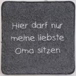 Schurwoll-Sitzkissen - liebste Oma sitzen - 30008