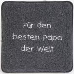 Schurwoll-Sitzkissen - für den besten Papa der Welt - 30006