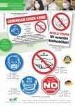 Komplett-Sortiment Schilder und Aufkleber - Keime, Bakterien, Mundschutz, Händeschütteln