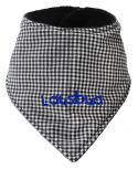 Dreiecktuch mit Einstickung - LAUSBUA - 12220 schwarz-weiß