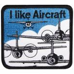 Aufnäher - I like Aircraft - 04569 - Gr. ca. 8 x 7,5 cm - Patches Stick Applikation