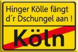 Magnet - Hinger Kölle... - Gr. ca. 8 x 5,5 cm - 38172 - Küchenmagnet