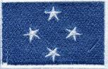 Aufnäher - Mikronesien Fahne - 21630 - Gr. ca. 8 x 5 cm