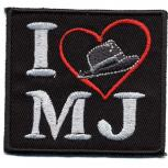 Aufnäher - I Love MJ - 01756 - Gr. ca. 6,5 x 5 cm - Patches Stick Applikation
