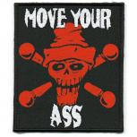 Aufnäher - Move Your Ass - 06080 - Gr. ca. 7 x 8,5 cm - Patches Stick Applikation