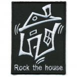 Aufnäher - Rock the House - 06081 - Gr. ca. 7 x 9 cm - Patches Stick Applikation