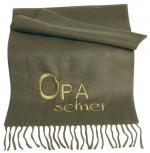 Cashmilon Schal Stickerei Opa seiner 29025 oliv