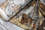 Stoff Meterware Dekostoff Wildtiere Zebra Löwe Tiger ca. 140cm